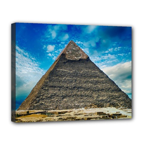 Pyramid Egypt Ancient Giza Canvas 14  X 11  by Celenk