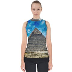 Pyramid Egypt Ancient Giza Shell Top by Celenk