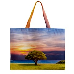 Tree Sea Grass Nature Ocean Zipper Mini Tote Bag by Celenk