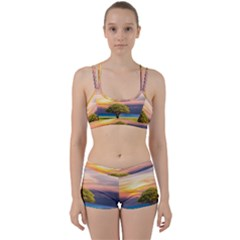 Tree Sea Grass Nature Ocean Women s Sports Set
