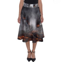 Armageddon Destruction Apocalypse Perfect Length Midi Skirt