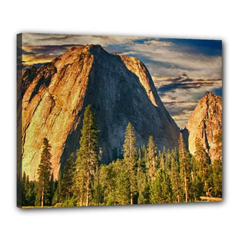 Mountains Landscape Rock Forest Canvas 20  X 16  by Celenk