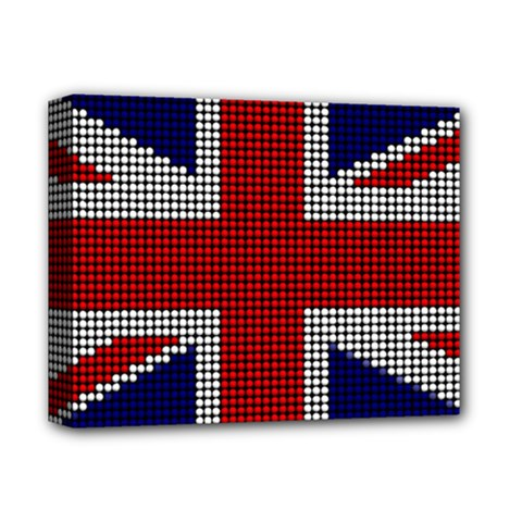 Union Jack Flag British Flag Deluxe Canvas 14  X 11  by Celenk
