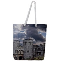 Castle Building Architecture Full Print Rope Handle Tote (large)