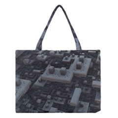 Backdrop Construction Pattern Medium Tote Bag by Celenk