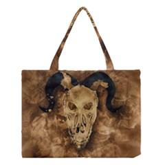 Skull Demon Scary Halloween Horror Medium Tote Bag by Celenk
