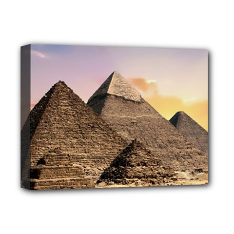 Pyramids Egypt Deluxe Canvas 16  X 12   by Celenk