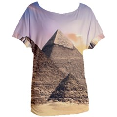 Pyramids Egypt Women s Oversized Tee by Celenk