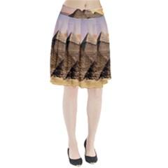 Pyramids Egypt Pleated Skirt by Celenk