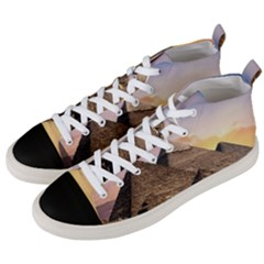 Pyramids Egypt Men s Mid Top Canvas Sneakers by Celenk