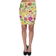 Cute Fruits Pattern Bodycon Skirt by paulaoliveiradesign