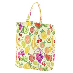 Cute Fruits Pattern Giant Grocery Zipper Tote by paulaoliveiradesign