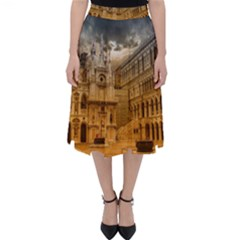 Palace Monument Architecture Folding Skater Skirt