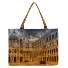 Palace Monument Architecture Zipper Medium Tote Bag by Celenk