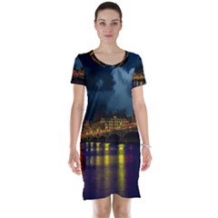 London Skyline England Landmark Short Sleeve Nightdress by Celenk