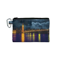 London Skyline England Landmark Canvas Cosmetic Bag (small) by Celenk