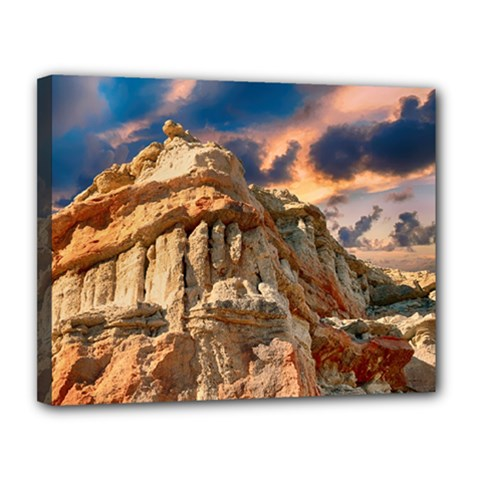 Canyon Dramatic Landscape Sky Canvas 14  X 11  by Celenk