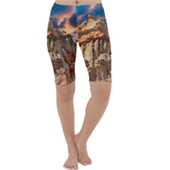 Canyon Dramatic Landscape Sky Cropped Leggings  by Celenk