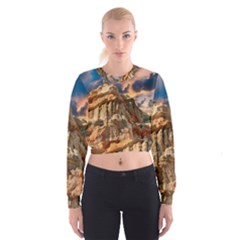 Canyon Dramatic Landscape Sky Cropped Sweatshirt by Celenk