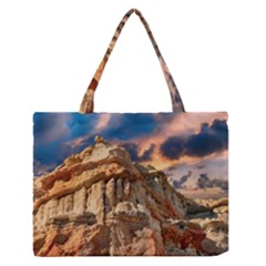 Canyon Dramatic Landscape Sky Zipper Medium Tote Bag by Celenk