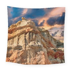 Canyon Dramatic Landscape Sky Square Tapestry (large) by Celenk