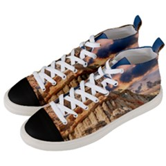 Canyon Dramatic Landscape Sky Men s Mid Top Canvas Sneakers by Celenk