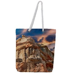 Canyon Dramatic Landscape Sky Full Print Rope Handle Tote (large) by Celenk