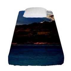 Island God Rays Sky Nature Sea Fitted Sheet (single Size) by Celenk
