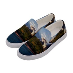 Island God Rays Sky Nature Sea Women s Canvas Slip Ons by Celenk