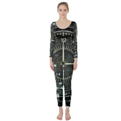 Time Machine Science Fiction Future Long Sleeve Catsuit by Celenk