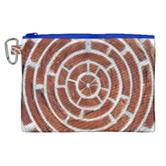Brick Pattern Texture Backdrop Canvas Cosmetic Bag (xl) by Celenk