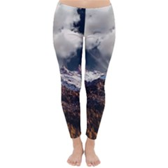 Mountain Sky Landscape Hill Rock Classic Winter Leggings by Celenk