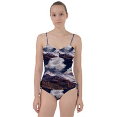 Mountain Sky Landscape Hill Rock Sweetheart Tankini Set by Celenk