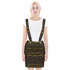 Hot As Candles And Fireworks In The Night Sky Braces Suspender Skirt by pepitasart