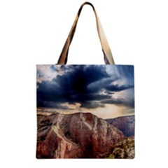 Nature Landscape Clouds Sky Rocks Grocery Tote Bag by Celenk
