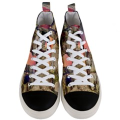 Rocks Landscape Sky Sunset Nature Men s Mid Top Canvas Sneakers