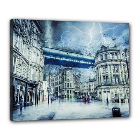 Storm Weather Nature Thunderstorm Canvas 20  X 16  by Celenk