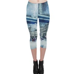 Storm Weather Nature Thunderstorm Capri Leggings