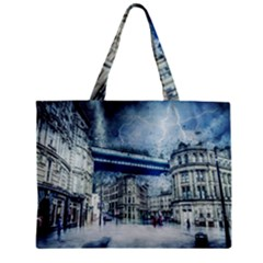Storm Weather Nature Thunderstorm Zipper Mini Tote Bag by Celenk