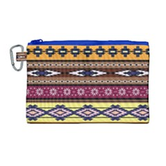 Colorful Tribal Art   Boho Pattern Canvas Cosmetic Bag (large) by tarastyle