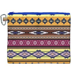 Colorful Tribal Art   Boho Pattern Canvas Cosmetic Bag (xxxl) by tarastyle