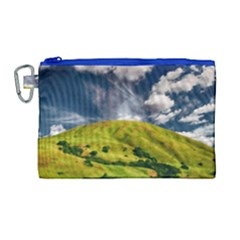 Hill Countryside Landscape Nature Canvas Cosmetic Bag (large) by Celenk