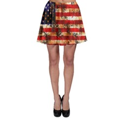American Flag Usa Symbol National Skater Skirt by Celenk