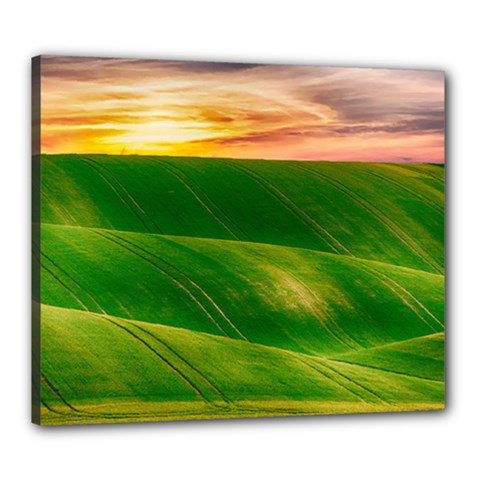 Hills Countryside Sky Rural Canvas 24  X 20