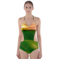 Hills Countryside Sky Rural Cut Out One Piece Swimsuit