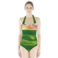 Hills Countryside Sky Rural Halter Swimsuit