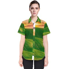 Hills Countryside Sky Rural Women s Short Sleeve Shirt