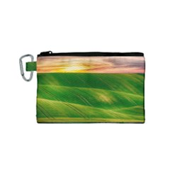 Hills Countryside Sky Rural Canvas Cosmetic Bag (small)