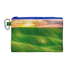 Hills Countryside Sky Rural Canvas Cosmetic Bag (large)
