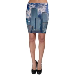 Tower Blocks Skyscraper City Modern Bodycon Skirt by Celenk